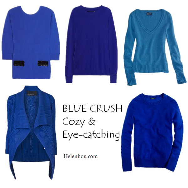Take Summer Memories Into Fall: Comfy Eye-Catching Cobalt Sweaters ...